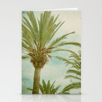 palm trees Stationery Cards featuring Palm Trees by Cassia Beck