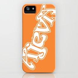 Ajeva Logo 2 Orange iPhone Case