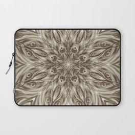 off white sepia swirl mandala Laptop Sleeve