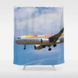 Iberian Airbus A320 Shower Curtain