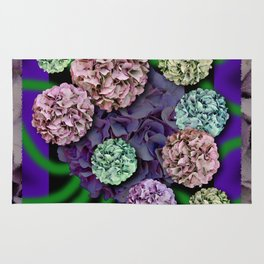 HYDRANGEAS FADING ABSTRACT BOUQUET  Rug