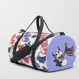 Foxes and flags Duffle Bag