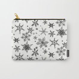 Snow flakes pattern Carry-All Pouch