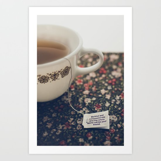 listen to your tea II Art Print
