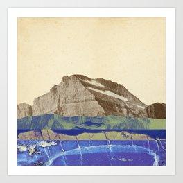 Abstract Mountain Landscape Art Print