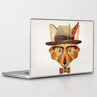 mr fox Laptop & iPad Skins featuring mr. fox by Manoou