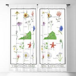 Virginia Wildflowers Blackout Curtain