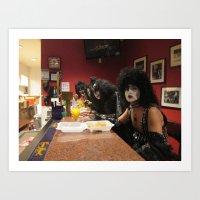 KISS at the Bar Art Print