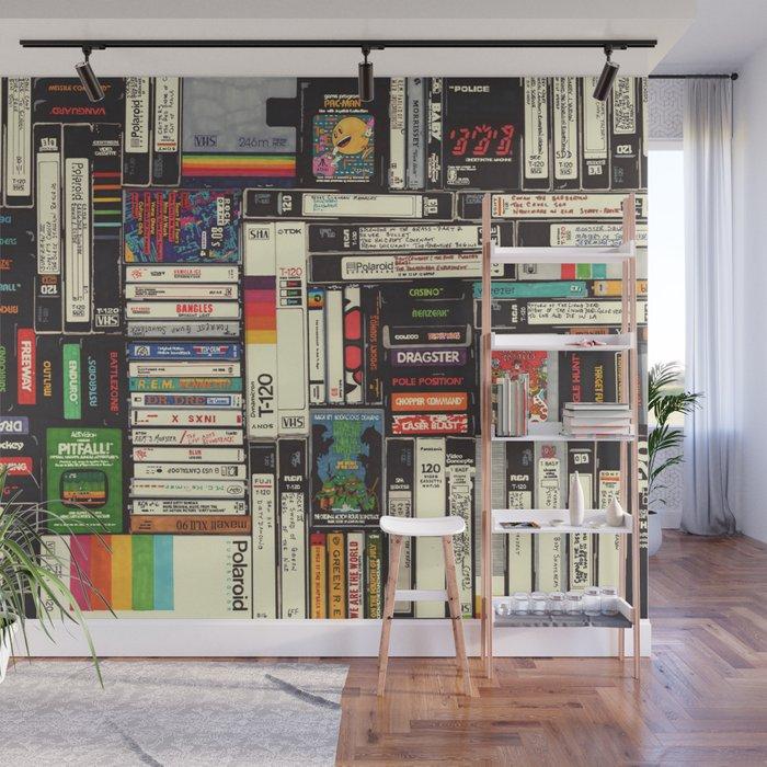 Cassettes, VHS & Games Wall Mural