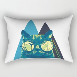 Cool Cat With Glasses Rectangular Pillow