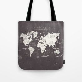 The World Map Tote Bag