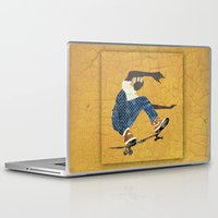 skateboard Laptop & iPad Skins featuring Skateboard 5 by Aquamarine Studio