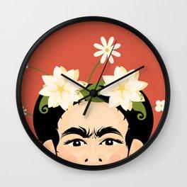 Frida Florals Wall Clock