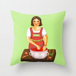 la cuoca - the cook Throw Pillow