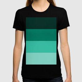 Green Horizontal Stripes Design T-shirt