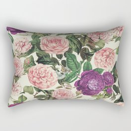 Light Floral Pattern Rectangular Pillow