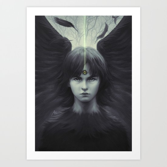 Eye of Raven Art Print