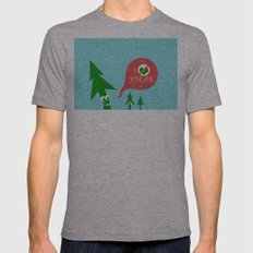 Greestmas. Save Xmas Trees Mens Fitted Tee Athletic Grey SMALL