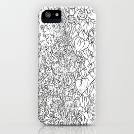 Great Prairie with Sunflowers in Black and White iPhone Case