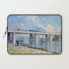 Claude Monet - Railway Bridge Laptop Sleeve