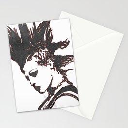 punk rocker girl Stationery Cards