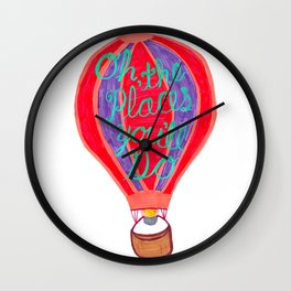 """Oh the Places You'll Go"" – Balloon plus Lettering Wall Clock"