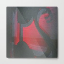 TRANSITORY RED LIGHT SHADOW ABSTRACT Metal Print