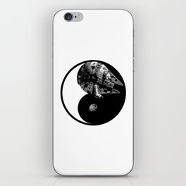 Millennium Falcon / Death Star Yin Yang Symbol iPhone Skin