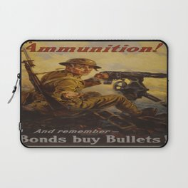 Vintage poster - Bonds Buy Bullets Laptop Sleeve