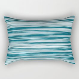 Tropical Dark Teal Inspired by Sherwin Williams 2020 Trending Color Oceanside SW6496 Soft Focus Motion Blue Water Color Blend Rectangular Pillow