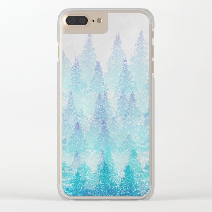 Mountain Hike Clear iPhone Case
