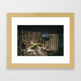 Highway Long Exposure Framed Art Print