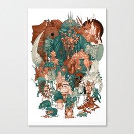 Dark Souls Gang Canvas Print