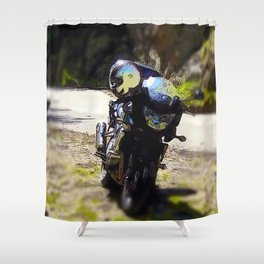 excursion by motorcycle Shower Curtain