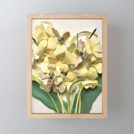 Oxlip Bees Framed Mini Art Print