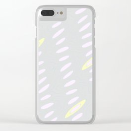 Geo Flow Gray Pink Yellow Clear iPhone Case
