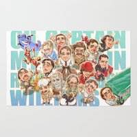 robin williams Area & Throw Rugs featuring Robin Williams by Arashi.C