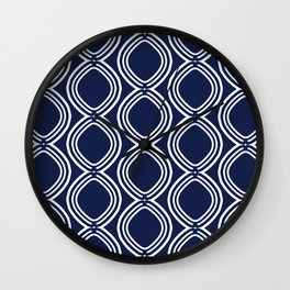 Hatchees (Navy Blue) Wall Clock