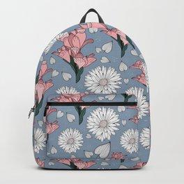Wild flowers / Elegant minimalist design / Botanical vintage pattern Backpack
