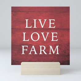 LIVE LOVE FARM Mini Art Print