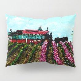 Mule Rides Through The Tulips Pillow Sham