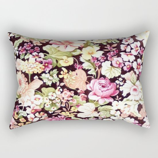 Floral Pattern in Bloom (Bright Flowers) Rectangular Pillow