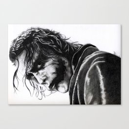 The joker - Heath Ledger Canvas Print