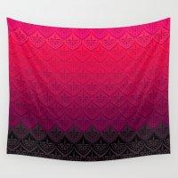 rothko Wall Tapestries featuring ELENA PATTERN - FLAMENCO VERSION by TotalBabyCakes