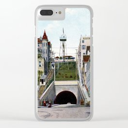 1901 Angel's Flight railway, Hill Street Los Angeles Clear iPhone Case