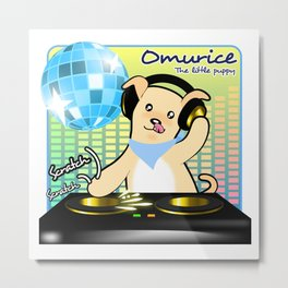 Omurice the little puppy - DJing Metal Print