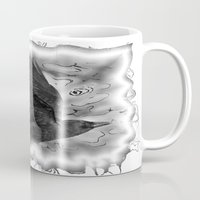 crow Mugs featuring crow by Vector Art