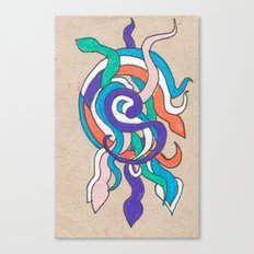 snake knot Canvas Print