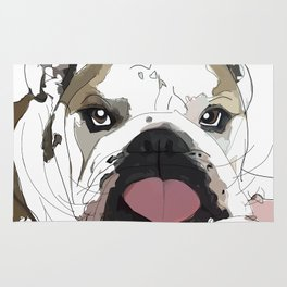 English Bulldog Love Rug