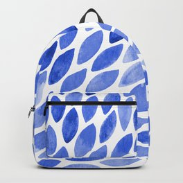 Watercolor brush strokes burst - electric blue Backpack